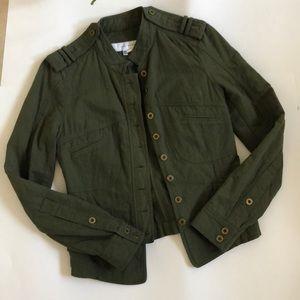 Zara woman military olive green jacket spring S